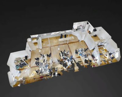 Office for rent PARIS 75003 - Beaubourg roofs - 3D Plan - 2